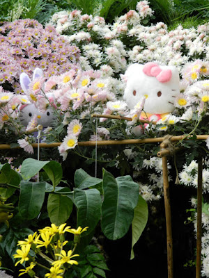 Allan Gardens Conservatory 2015 Chrysanthemum Show Hello Kitty and friend fishing by garden muses-not another Toronto gardening blog