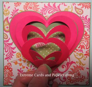 pull tab valentine heart card