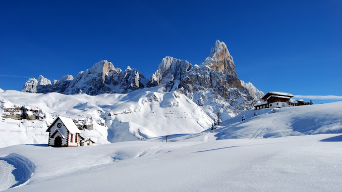 Wallpaper: Dolomites Alps Italy Winter Snow