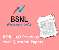 BSNL JAO Previous Year Question Papers