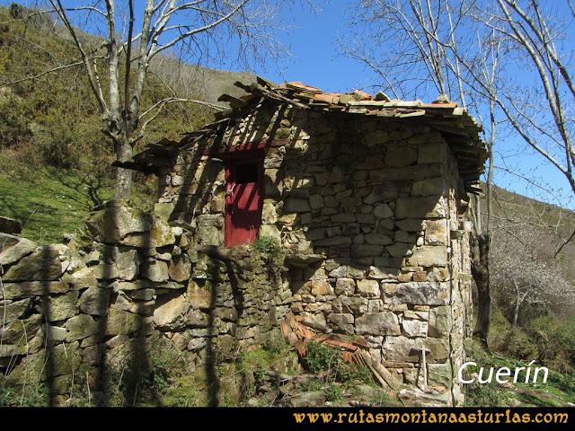 Ruta Ardisana, pico Hibeo: Cabañas en la majada Cuerín