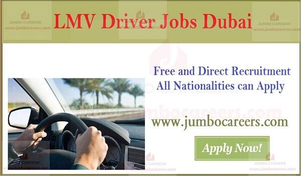 Eligibility Criteria for LMV Driver jobs Dubai, Available Dubai jobs with details,