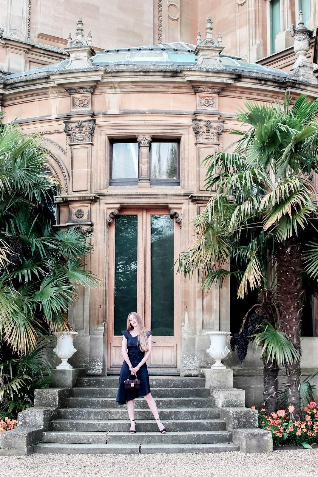 Fashion blogger waddesdon manor photoshoot