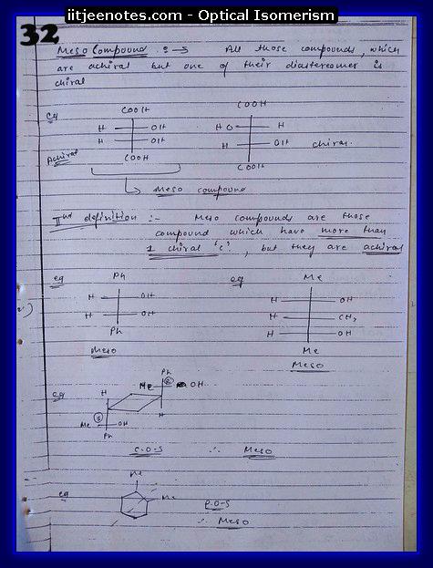 Optical Isomerism class12