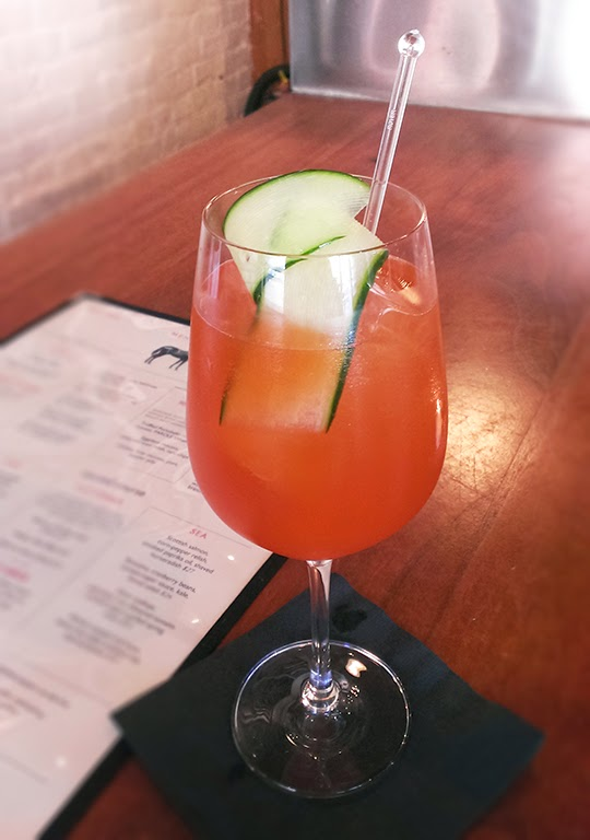 Masa Urushido's Watermelon Aperol Spritz at Saxon + Parole in NYC