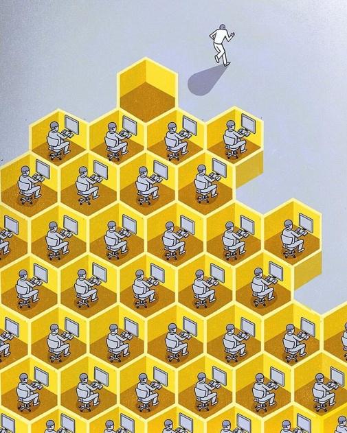 FUN internet work people humor redes sociales maquinas panel abejas