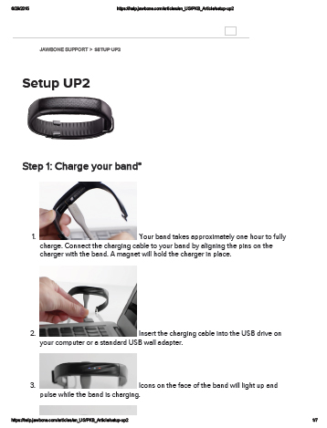 Jawbone UP2 Manual