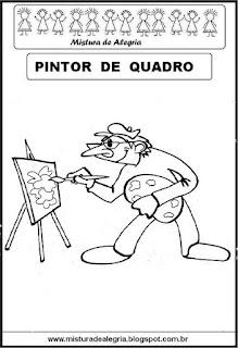 Desenho de pintor para colorir