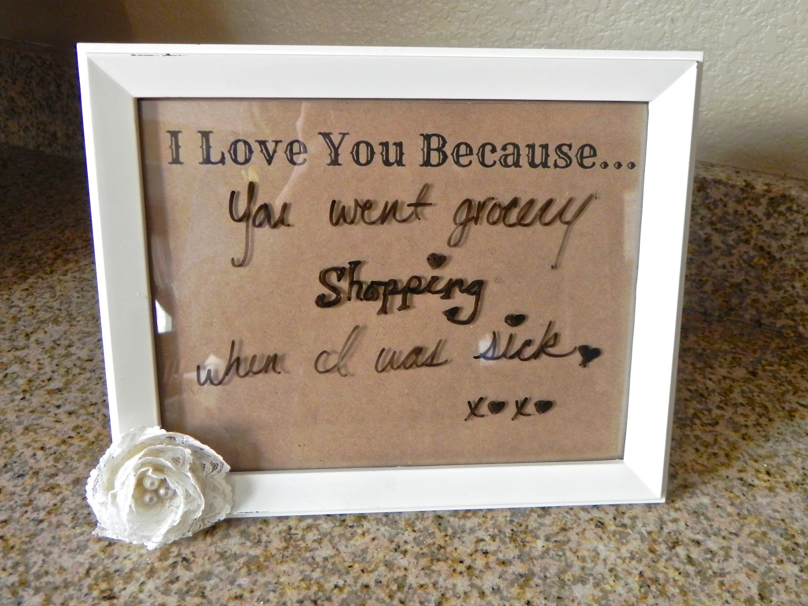 Life Unexpected Diy I Love You Because Frame