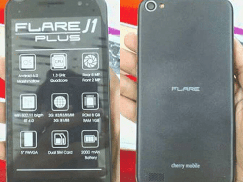 Flare J1 Plus w/ Marshmallow OS actual image