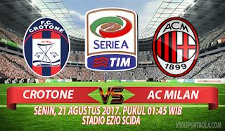 Prediksi Crotone vs AC Milan 21 Agustus 2017
