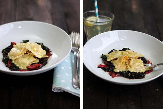 Möhrenravioli mit Mangold und Zitronensauce Rezept selbstgemachte Ravioli Blog Holunderweg18