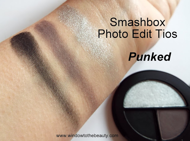 Smashbox eyeshadow punked swatches