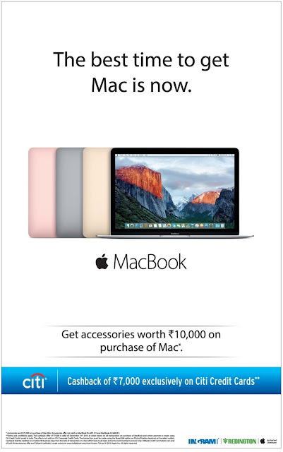 The best time to get Macintosh book (laptop) is now | October 2016 Diwali festival discount offers