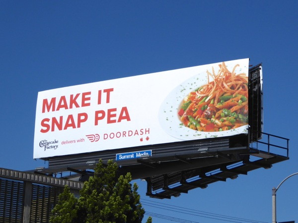 Make it snap pea DoorDash billboard