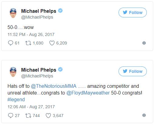 Michael Phelps ahora es quien reta a McGregor