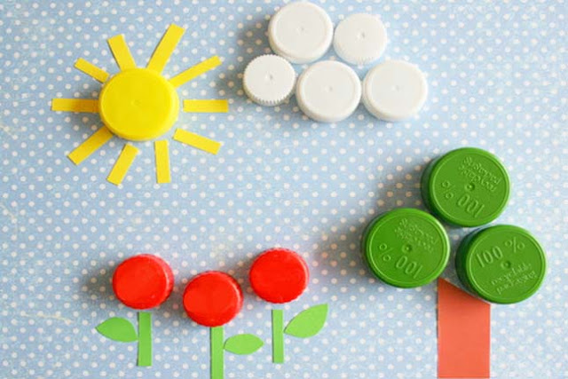 bottle cap art ideas for children