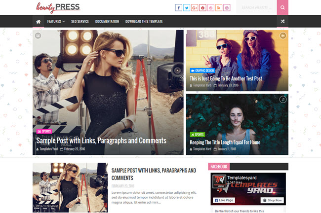 BeautyPress – Responsive Blogger Template