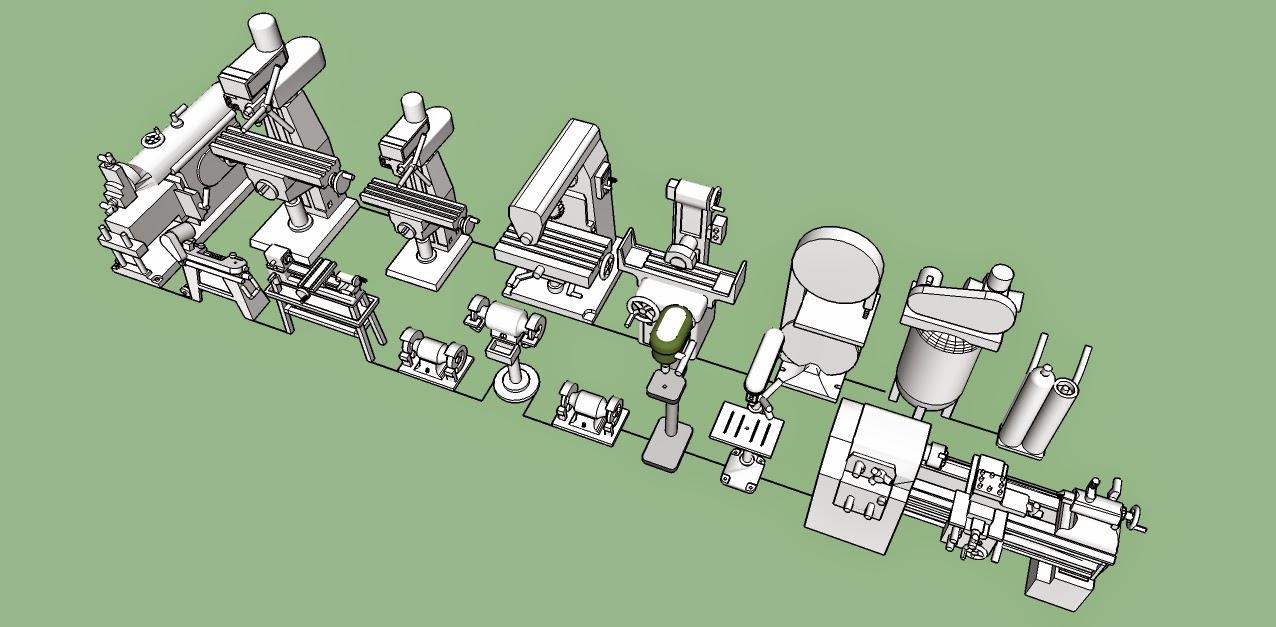 Nirvana Valley Model Railroad Machine Shop Tools 3d