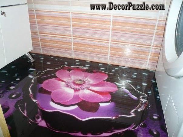 Self Leveling Bathroom : D bathroom floor murals designs and self leveling floors
