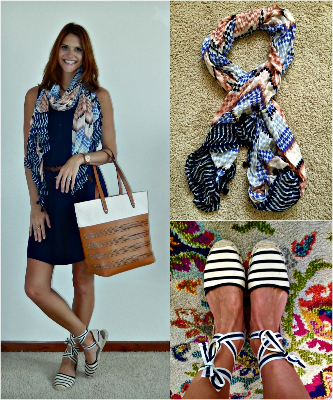 17873151db8 Dress  Old Navy   Scarf Purse  Stella   Dot   Watch  Fossil   Earrings   Old   Ring  Old Navy