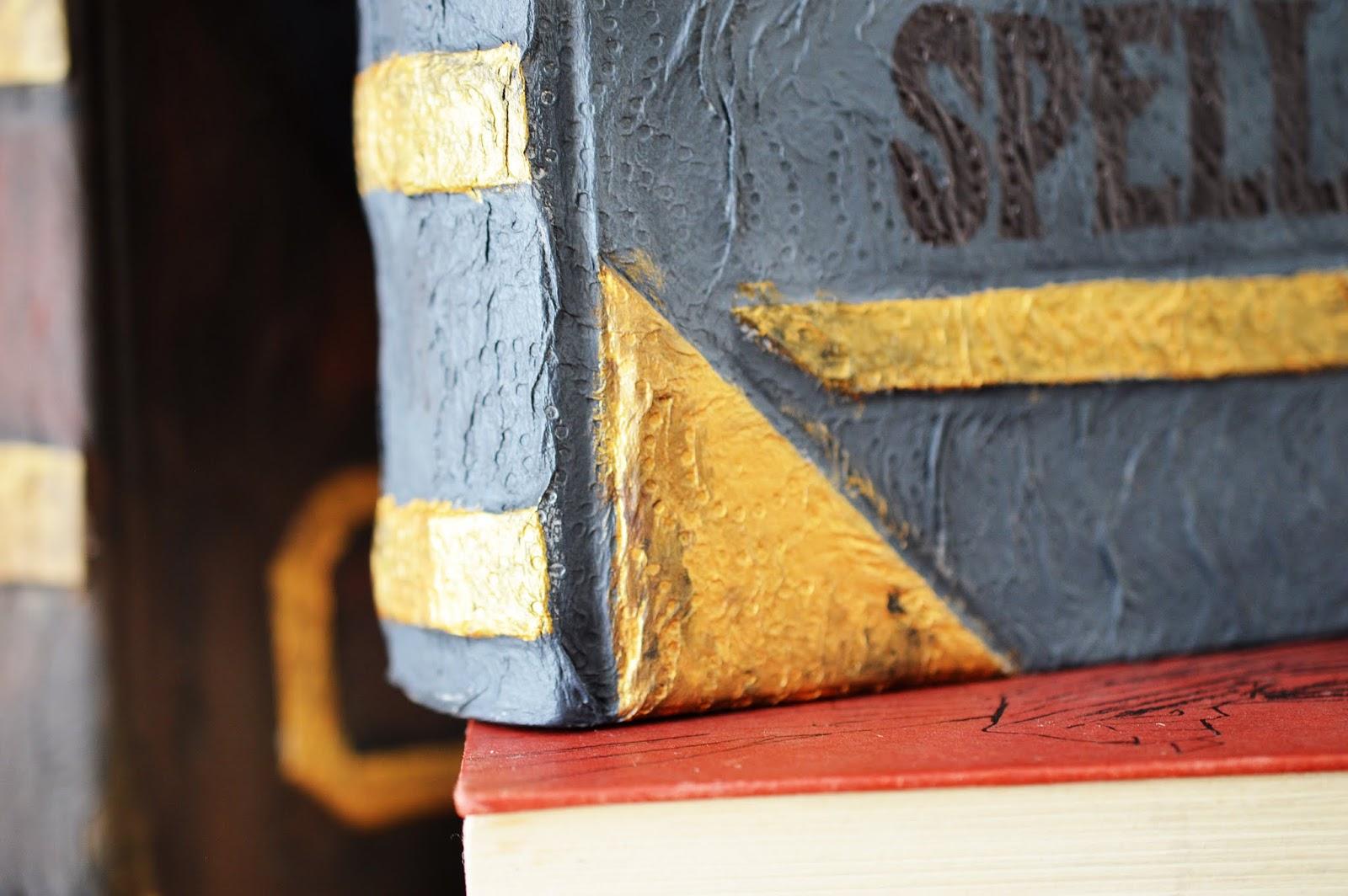 corner of a DIY Papier-Maché Spell Book
