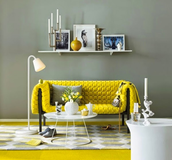 sala color amarillo gris