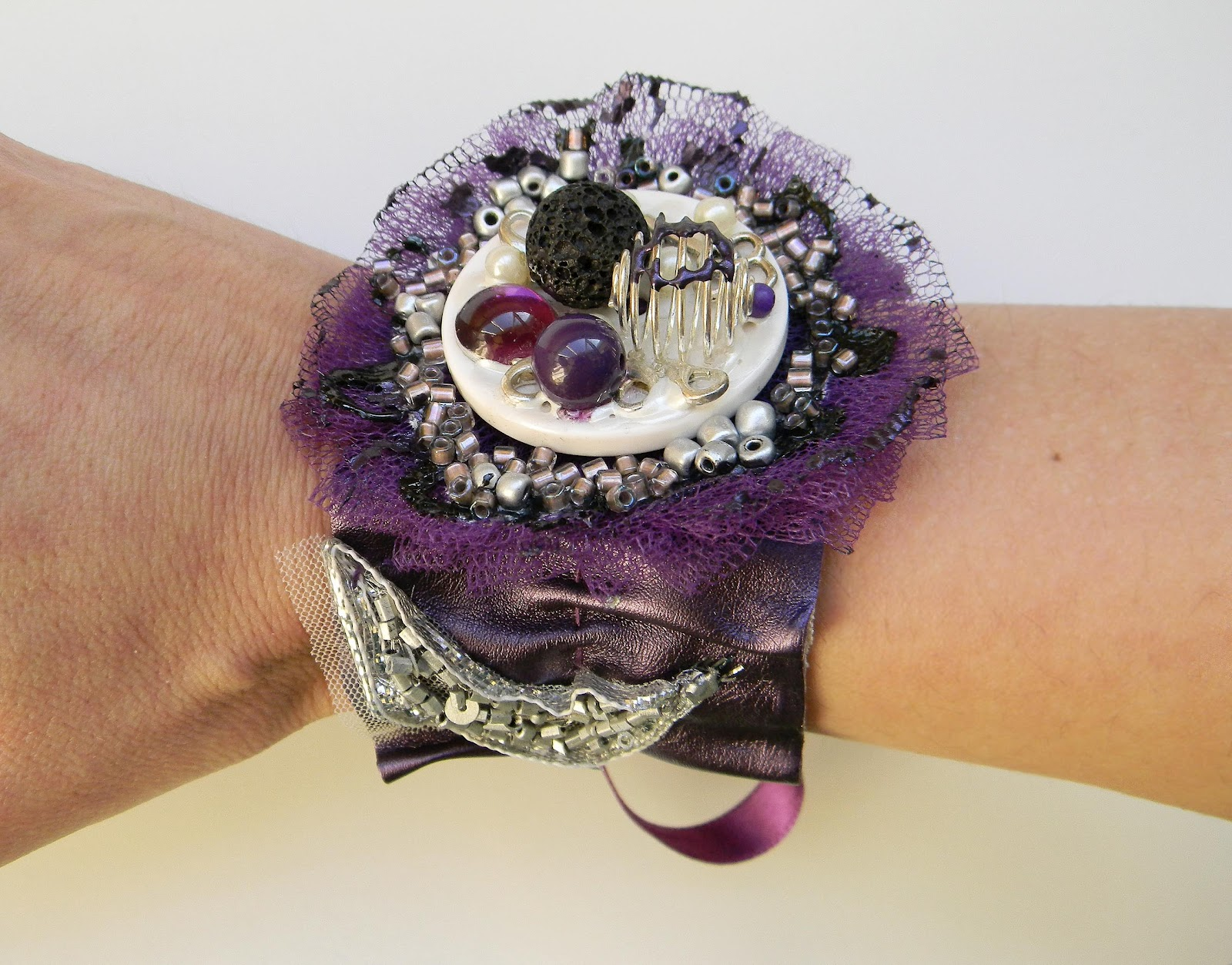 """Purple Dream"" Bracelet/Cuff"