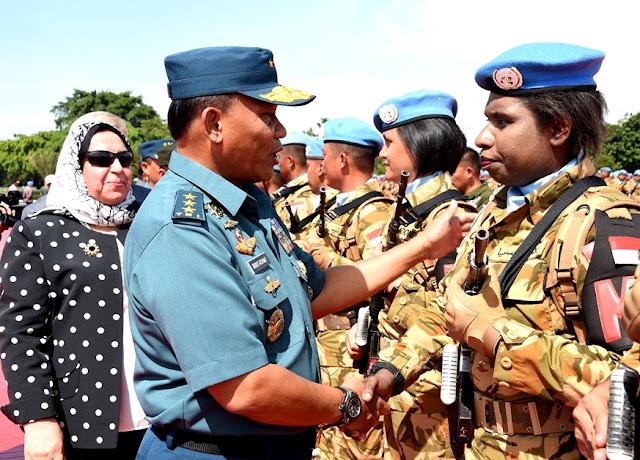 Kasum TNI Sambut Satgas TNI Konga UNIFIL Lebanon dan UNAMID Darfur TA 2018