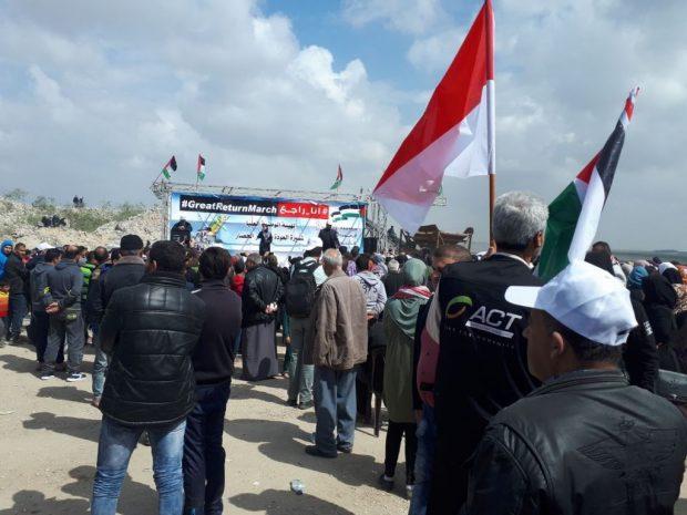 Kesaksian Relawan ACT dalam Aksi Kembalinya Tanah Palestina di Gaza