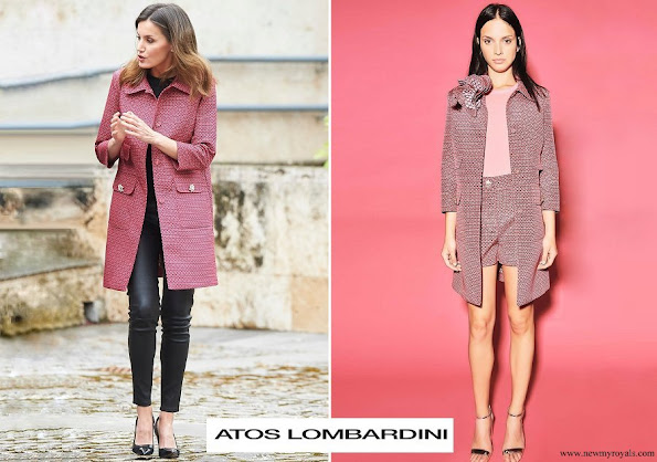 Queen Letizia wore Atos Lombardini Coat