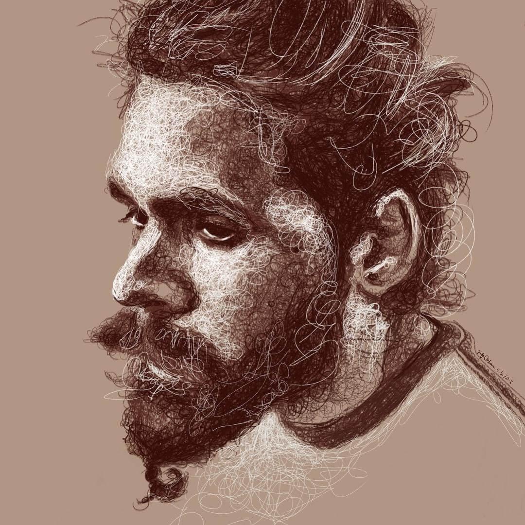 06-Jul-Jennifer-Ackerman-Digital-Art-Scribble-Drawing-Portraits-www-designstack-co