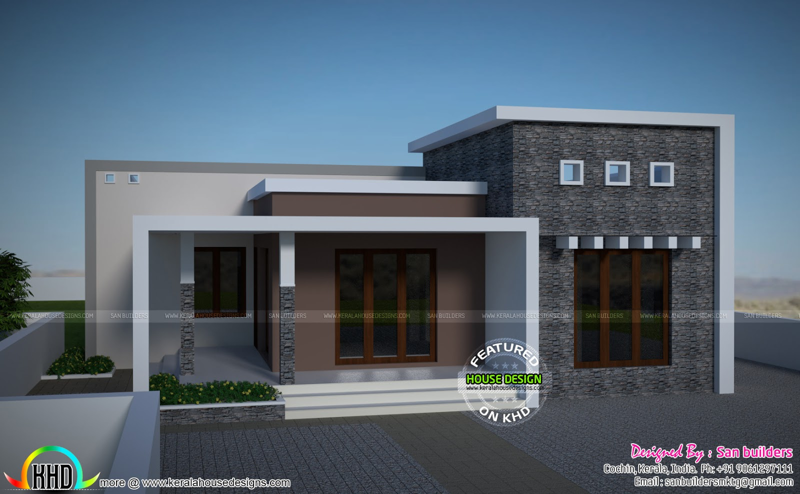 25 lakhs house plan kerala home design and floor plans for House designs 950 sq ft