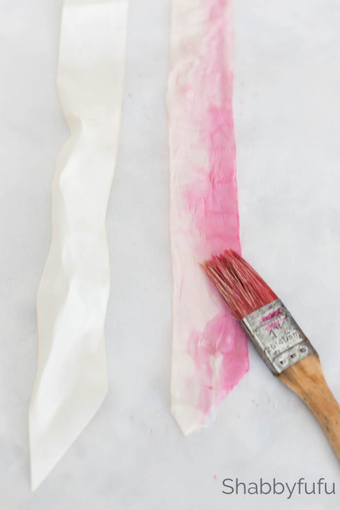 silk ribbon diy tutorial project