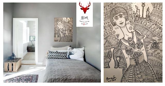 Ilustracja doodle art ze szczyptą gotyku, czyli Panna MiGothka