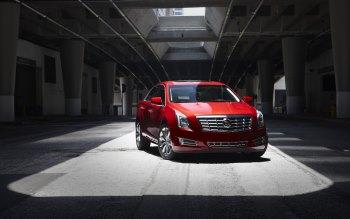 Wallpaper: Red Cadillac XTS