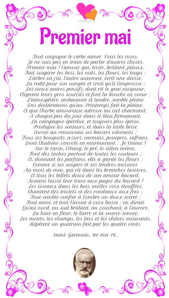 Poème : Premier mai de Victor Hugo
