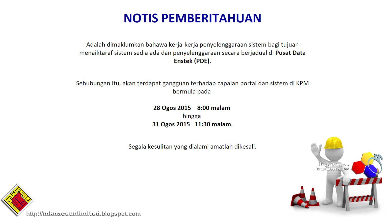 Kerja Penyelenggaraan Sistem Bagi Kementerian Pendidikan Malaysia Bermula