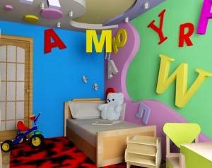 Cuarto infantil lleno de color