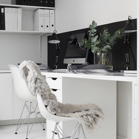 Scandinavian inspired home offices | elisabeth_heier on instagram