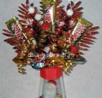 композиция из конфет на новый год фото мастер класс