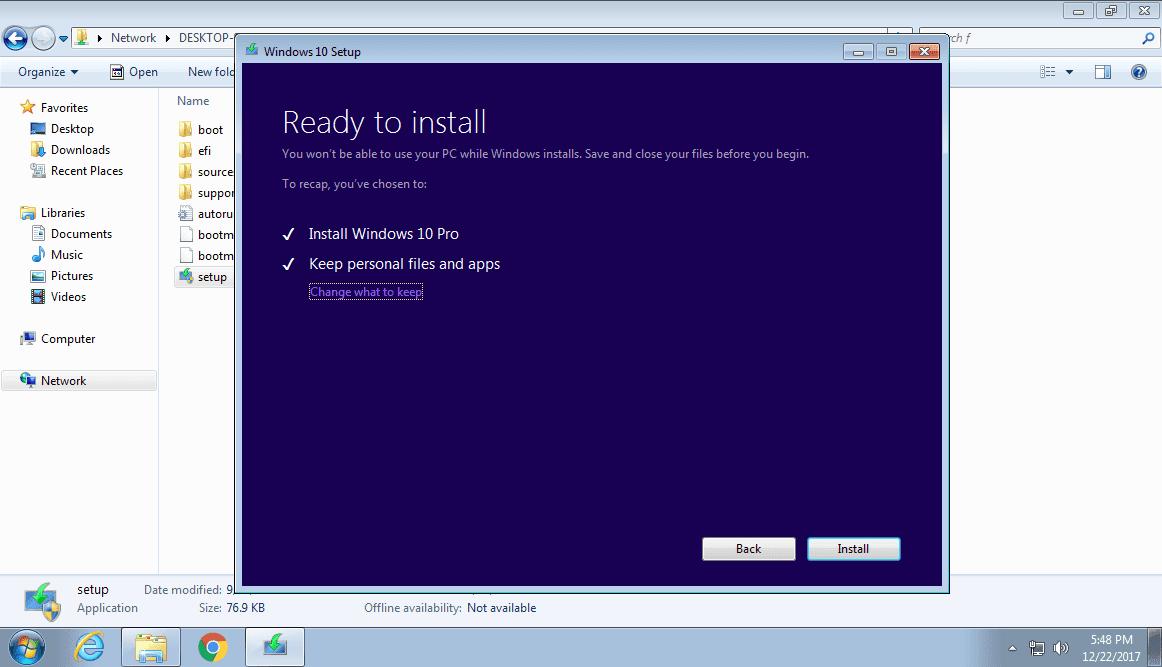 Các bước nâng cấp lên Windows 10 trực tiếp cho các máy tính trong cùng mạng Lan - Ảnh 8