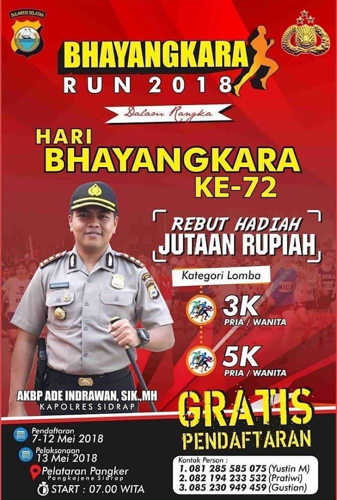 Bhayangkara Run - Sidrap • 2018