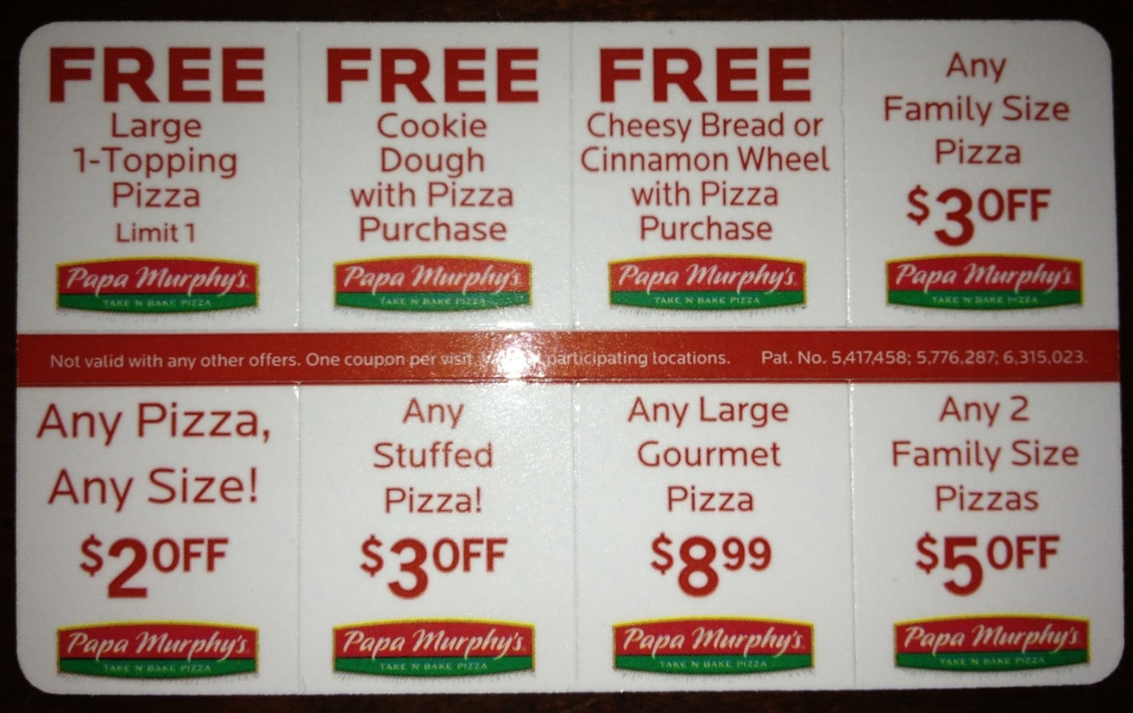 picture regarding Papa Murphys Coupons Printable called Papa murphys coupon card fundraiser / Discount coupons dictionary