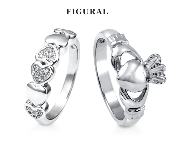 figural promise rings from Berricle