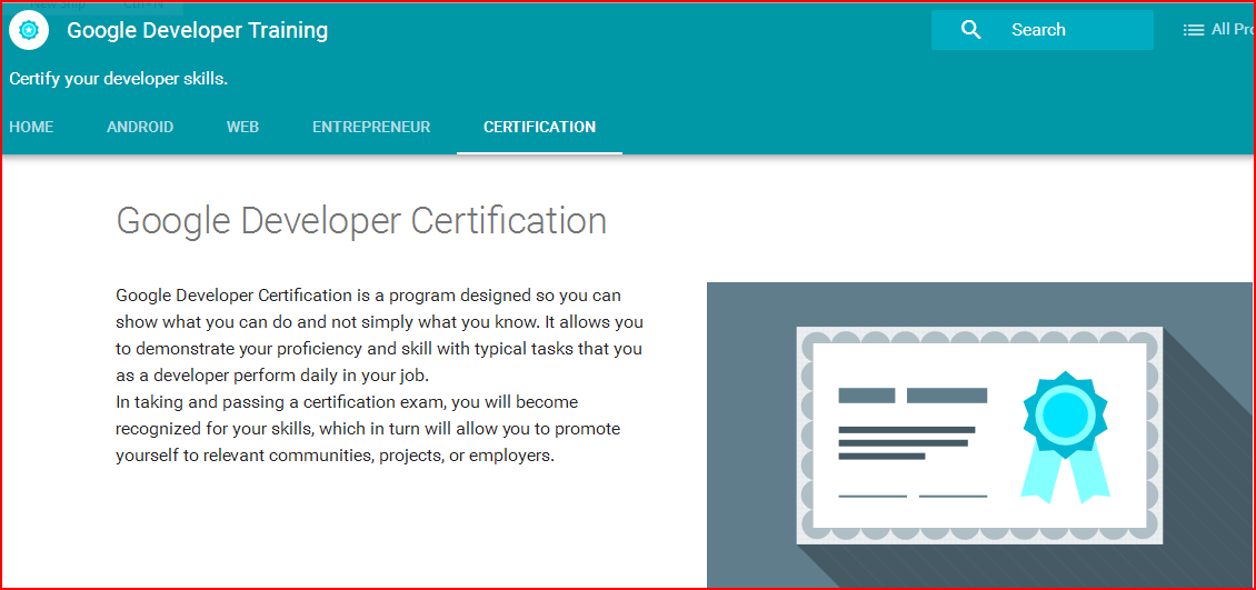 Google Developer Certification Associate Android Developer Exam