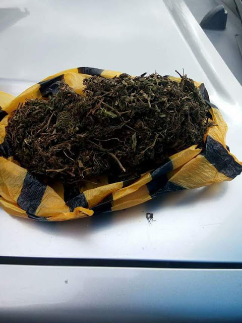 Photos: US-based Nigerian man finds a bag of marijuana planted in his car after he dreamt of his arrest over drug possession