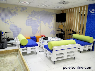 Sofa europalet color blanco Paletsonline.com
