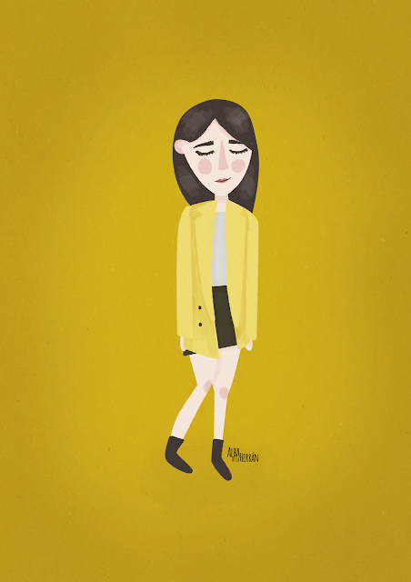 It girls albadelaherran illustration