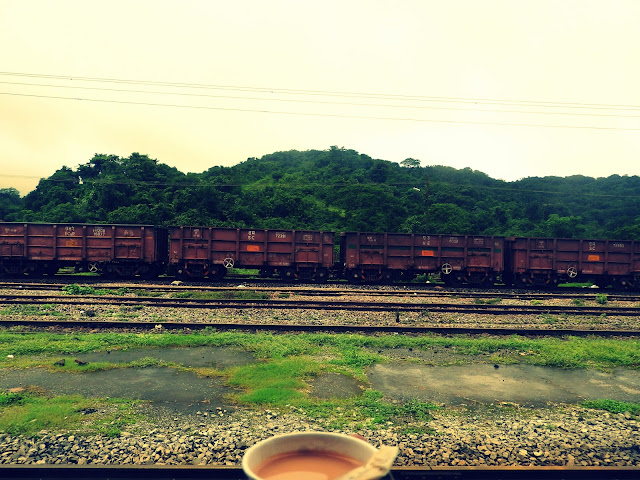 Train journeys seem incomplete without chai | En route to Goa - July 2015